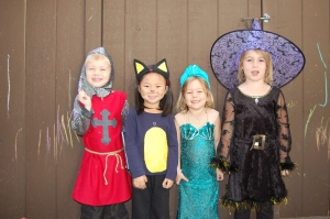 Daniel and his friends at Halloween